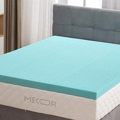 Mecor 2 Inch 2 Gel Infused Memory Foam Mattress Topper