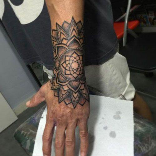 101 Cool Tattoos For Men Best Tattoo Ideas Designs For Guys 2020 Mandala Hand Tattoos Mandala Wrist Tattoo Mandala Tattoo Design
