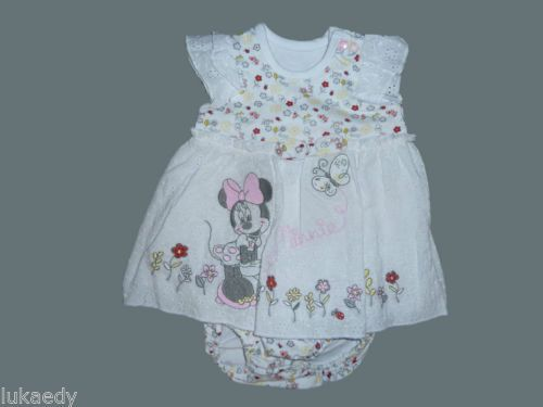 robe bebe minnie mouse blanche jolie ensemble naissance 1 mois filles disney bebe pinterest. Black Bedroom Furniture Sets. Home Design Ideas