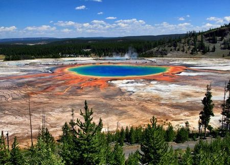 Most Beautiful Places on Earth - Grand Prismatic Spring, Wyoming