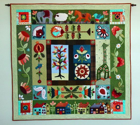 Folk Art Quilt Ideas : Best ideas about Quilt Folk Art, Quilts Folk and Quilts Sue on Pinterest Folk art, Quilt and ...