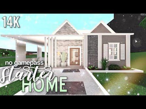 Bloxburg Starter Home No Gamepass Speedbuild Gwenyt Youtube Small House Design Plans House Layouts Luxury House Plans