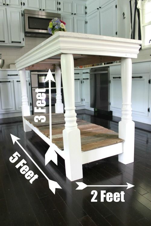 Diy kitchen island with salvaged wood diy and crafts - Small kitchen island table ...