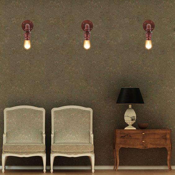 Amazon.es: lixada lámpara de pared holder luz en la base tubería ...