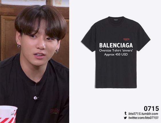 190613 | Jungkook : 2019 FESTA BALENCIAGA - Oversize t-shirt 'sinners'