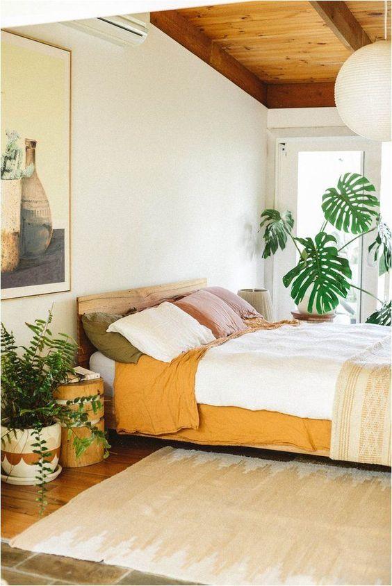 geel in de slaapkamer