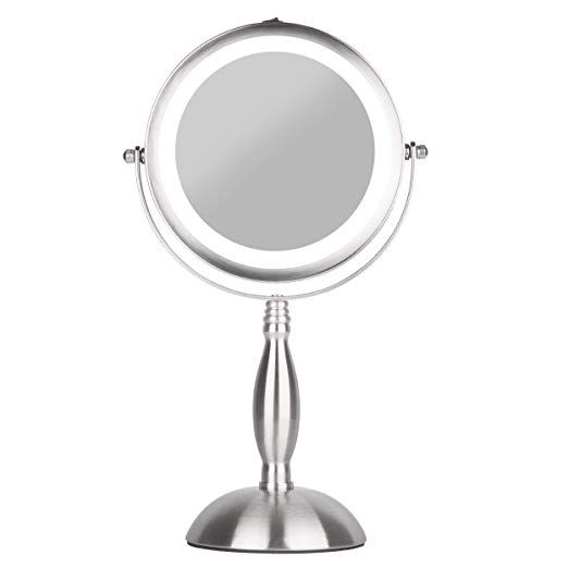 S H E Makeup Mirror Lighted Vanity Mirror Natural White 18