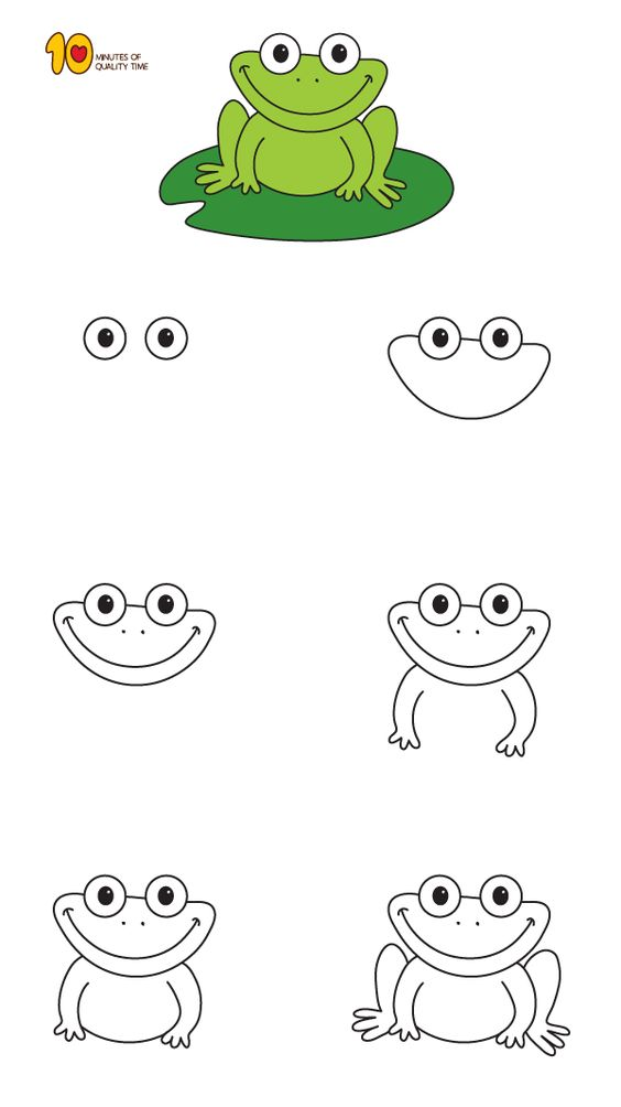 How To Draw a Frog Step by Step for Kids