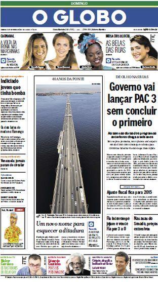 Jornal O Globo - 9 de fevereiro de 2014 - Domingo