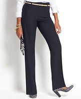 """Tall Curvy All-Season Stretch Straight Leg Pants - Perfectly proportioned, expertly detailed and simply seasonless, this straight leg pair is designed in our endlessly flattering all-season stretch fabric. Slightly more fitted at the waist. Our curviest fit, curvy through the hip and thigh and roomier at the back. Contoured curtain waistband offers extra tailoring for a better fit. Front zip with double hook-and-bar closure. Belt loops. Back welt pockets. 34"""" inseam."""