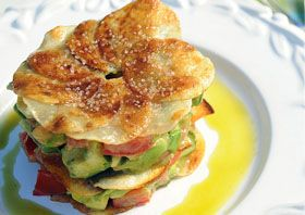 Avocado Salad with Potato Gallettes
