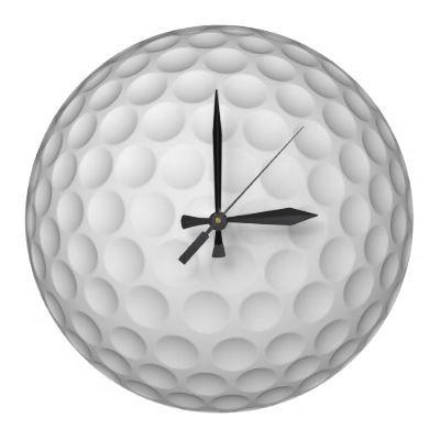 Golf Ball Wall Clock $29.95