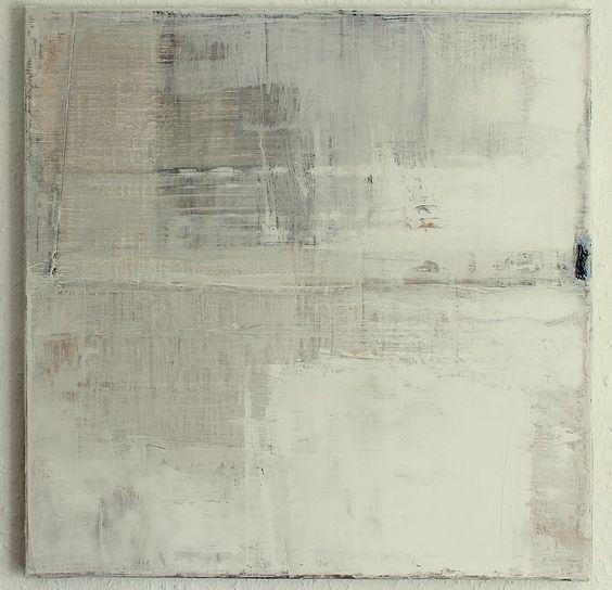 CHRISTIAN HETZEL: grey white painting