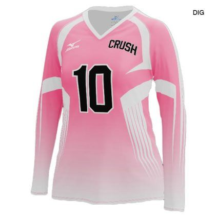 Mizuno Women S 440380 Custom Sublimated Long Sleeve Jersey Volleyball Jerseys Long Sleeve Jersey Women Volleyball