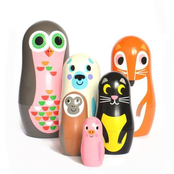 OMM Design Matryoshka Animals - SET 2