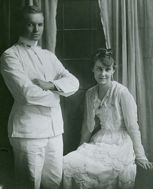 Dwight and Mamie Eisenhower, 1916 wedding.