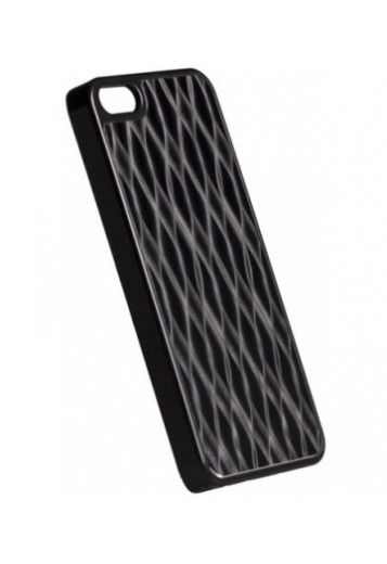 Krusell Apple iPhone 5 / 5S / SE Alucover Black Grid Case Cover Available at mobilepro.co.uk