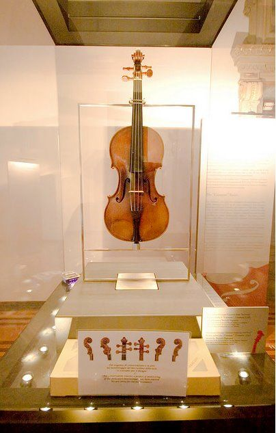 """Il Cannone Guarnerius"" - Paganini's favorite violin made in 1743 by the great Giuseppe Antonio Guarneri. Paganini received this great violin as a gift from an amateur violinist and business man, after losing his valuable ""Amati"" in gambling. It is known that Paganini liked to gamble a lot in his youth. ""Il cannone"" is now considered a national treasure and it is on exhibit at GENOVA - MUSEO PALAZZO TURSI, ITALY:"