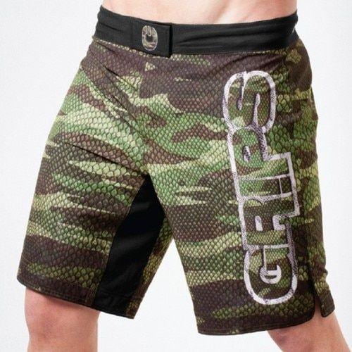 Grips Athletics Camo Snake Fight Shorts Camo Fight Shorts Mma Shorts Boxing Trunks