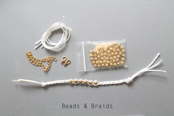 Easy beads & braids... great nautical look!