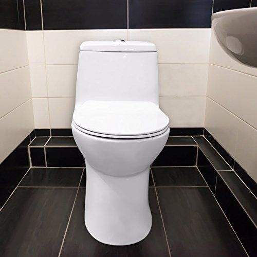 Winzo One Piece Toilet No Noise Dual 3 Cyclone Elongated Strong Rinse Soft Closing High Efficiency Toilet Wall S Furniture Decor One Piece Toilets Toilet Toilet Wall