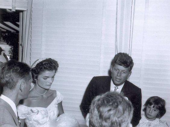 John and Jackie Kennedy.