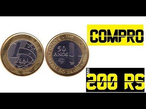 Compro Moedas Banco Central 50 Anos 200 Reais Cada Moedas Raras