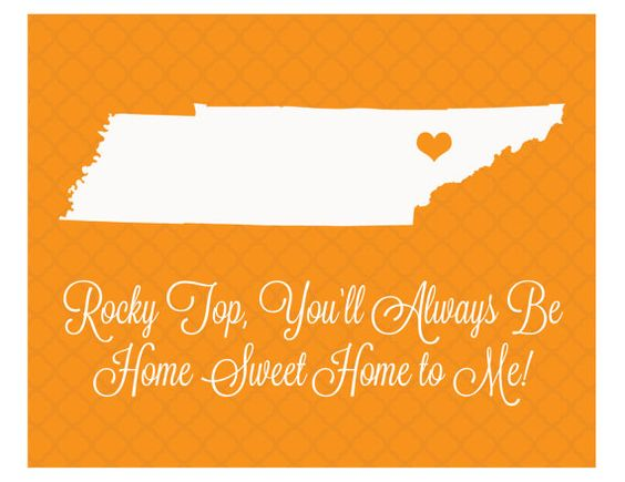 Custom 8x10 Digital  Print  Rocky Top You'll Always Be Home Sweet Home to Me! UT University of Tennessee by aprintabledesign, $6.50
