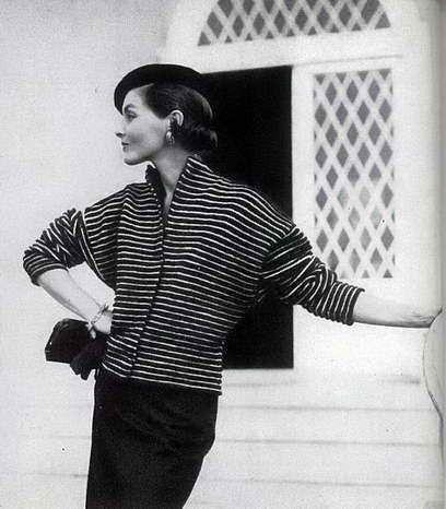 Vogue Vintage Knitting Patterns : Vintage Knitting Pattern 1955 USA VOGUE Ribbed Coat PDF Knitting Pattern Vi...