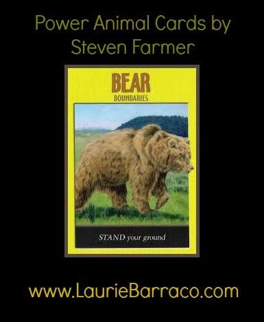 Card of the Day ~ Bear. Call upon the spirit of the Bear to help you in areas where you could use a boost of confidence.