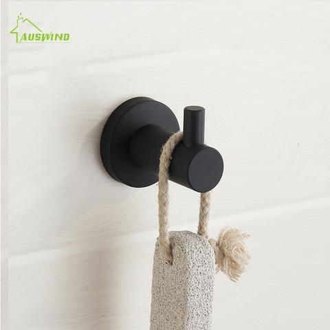 Uitgelezene Zwarte Olie Rubber Verf Zwart Eenvoudige Handdoek Haak 304 Rvs LT-05