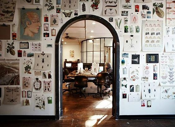 Wow. What a gallery wall. You'd need a big space for this to work.