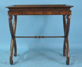 Mahogany Butler's Serving Stand