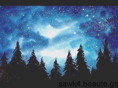 Aquarelle Simple Aquarium Galaxy Foret Tutoriel Aquarelle