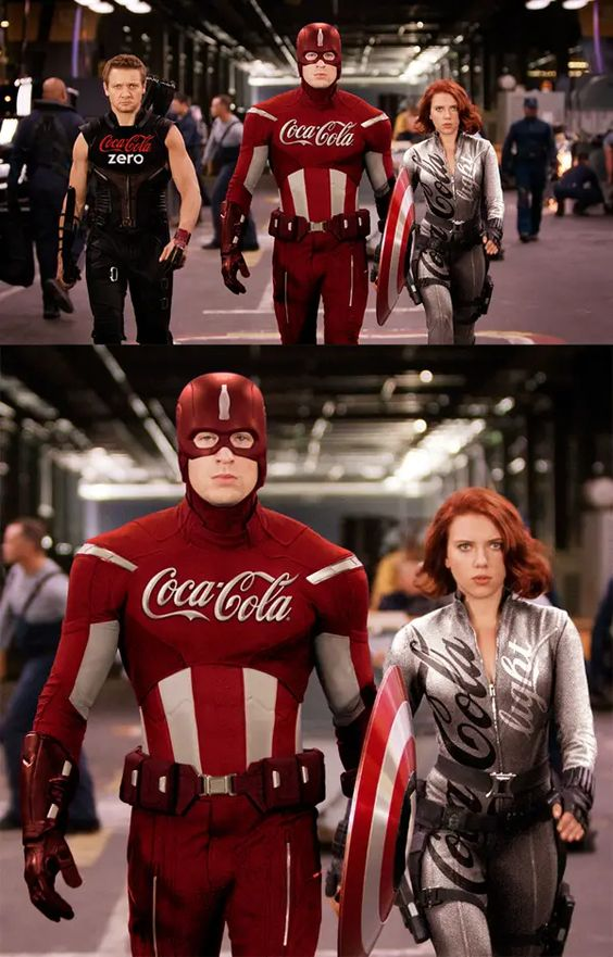 Captain America with Coca Cola costume