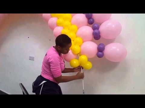 Balloon arch large flat arch youtube mc pinterest for Balloon decoration ideas youtube