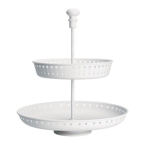 IKEA - GARNERA, Etagere 2-fach, Auf der Etagere lassen sich Gebäck, Käse, Obst usw. dekorativ und stilvoll servieren.