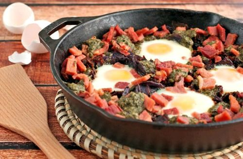 Sun dried tomatoes, Baked eggs and Skillets on Pinterest