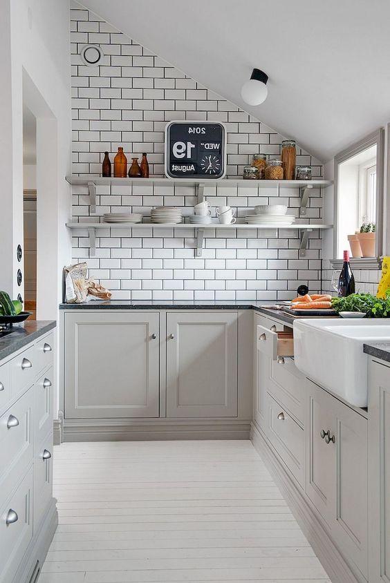 white floors and tiles