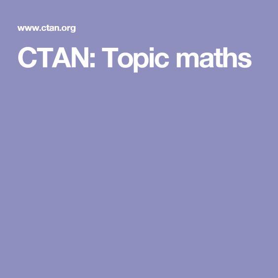 CTAN: Topic maths
