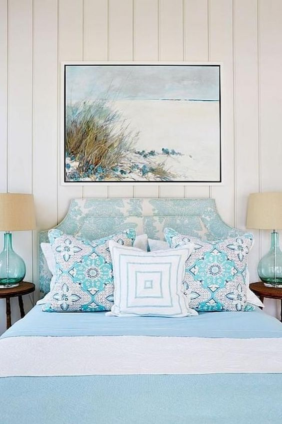 56 Eclectic Modern Decor Ideas Trending This Summer Coastal Bedroom Decorating Beach House Interior Design Chic Beach House