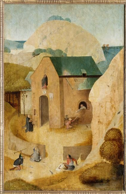 Hieronymus Bosch, St. Jacques and the Magician Hermogenes, c. 1490 - 1516