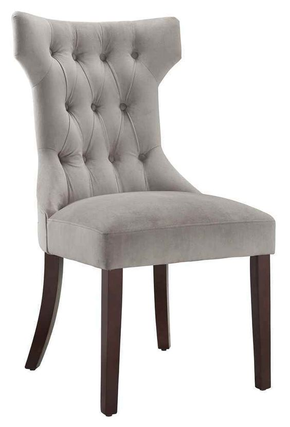 Claiborne Tufted Dining Chair In Gray - Set of 2 [ID ...
