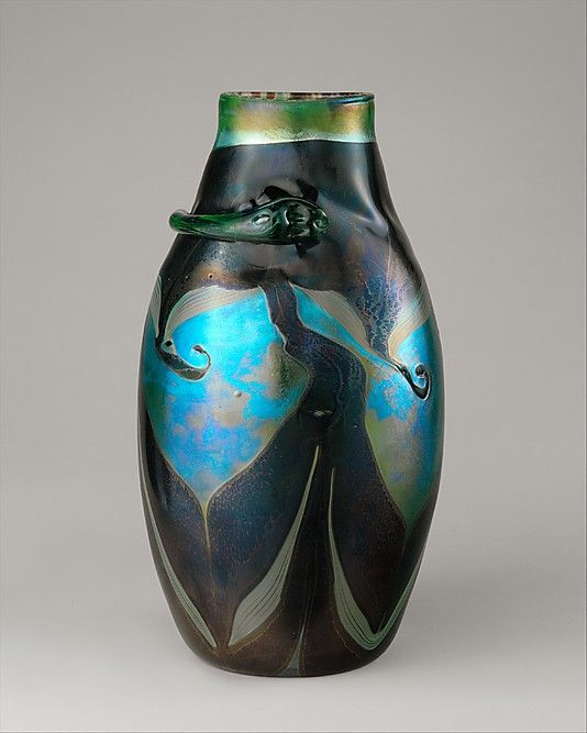Tiffany Studios New York Iridescent Favrile Glass Vase Tiffany