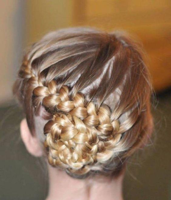 Admirable Gymnastics Hairstyles Gymnastics And Braided Buns On Pinterest Short Hairstyles Gunalazisus