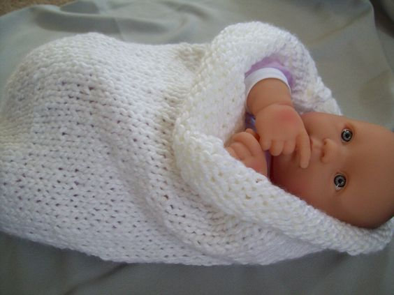 Knitted baby bunting - photo#16