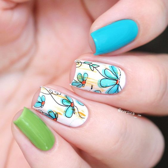 Born Pretty Nail Art Water Decals Transfer Sticker 2 Patterns/Sheet Flying Dandelion : Beauty: