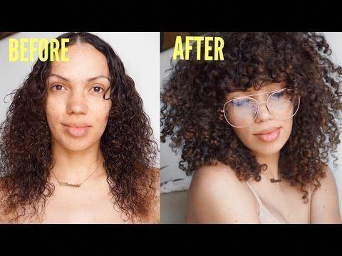 How To Diy Curly Bangs Spring Hair Refresh W Curls Video Black Hair Information Curlyhairwithbangs Curly Hair Diy Curly Hair Styles Curly Bangs