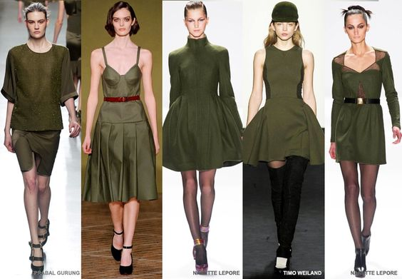 Olive - Colour Forecast Fall/Winter 2014/2015 - Runway Women's Fashion Photo: Trend Council DORLY DESIGNS: Our Top Runway Fashion Colours F/W 2014/2015 Part IV