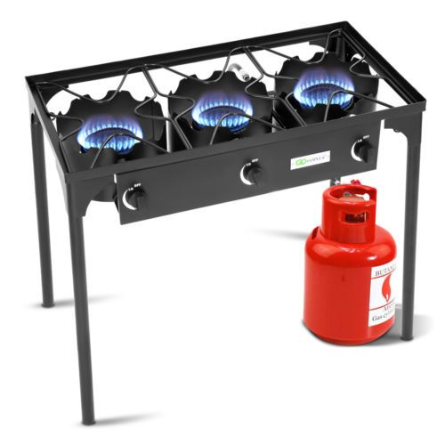 Details About Goplus Portable Propane 225 000 Btu 3 Burner Gas Cooker Outdoor Camp Stove Bbq Camping Stove Best Camping Stove Outdoor Stove